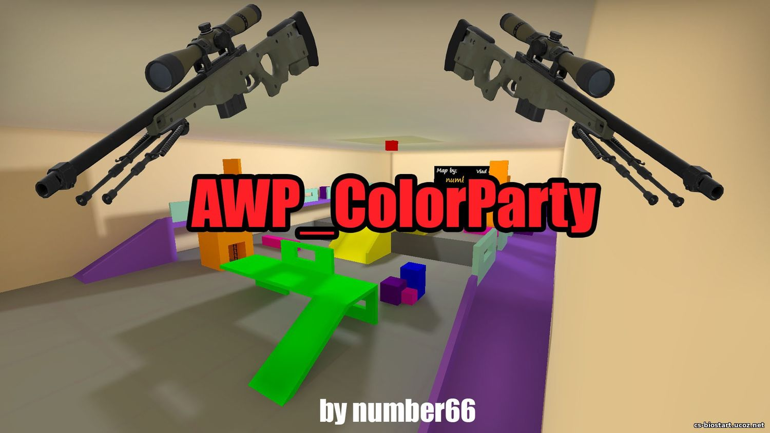 "Карта ""awp_ColorParty"" для кс го"